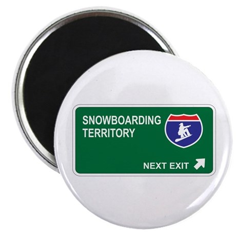 Snowboarding Territory Magnet