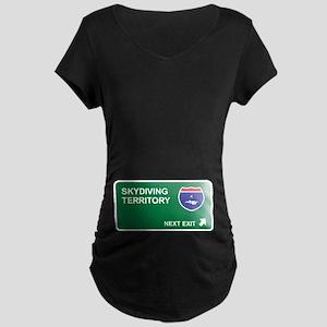 Skydiving Territory Maternity Dark T-Shirt