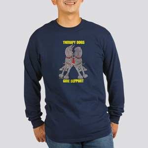 NC Blu Therapy Dogs Give Long Sleeve Dark T-Shirt