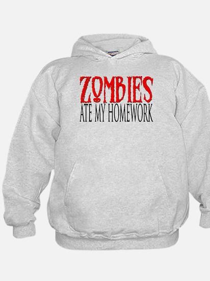 Zombies ate my homework Hoodie