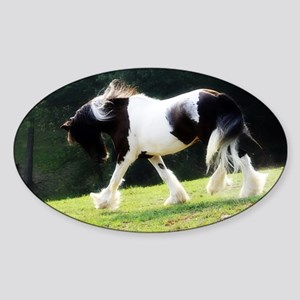 Gypsy Vanner Oval Sticker