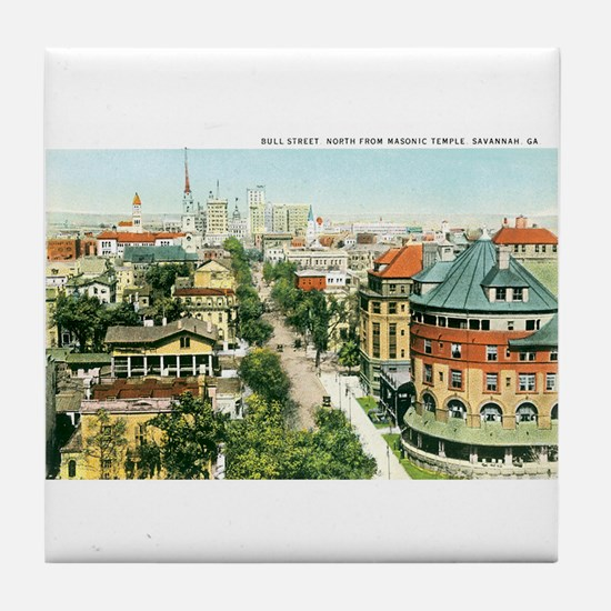 Savannah Georgia GA Tile Coaster