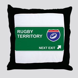 Rugby Territory Throw Pillow
