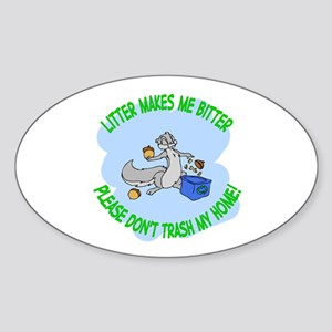 Bitter litter Squirrel Oval Sticker
