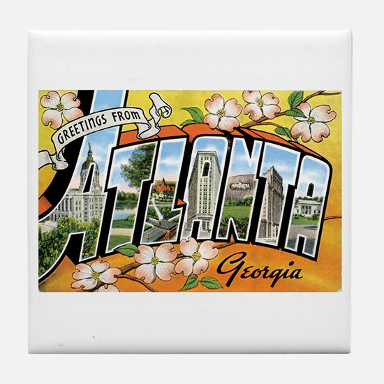 Atlanta Georgia GA Tile Coaster