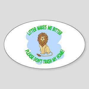 Bitter Littler Lion Oval Sticker