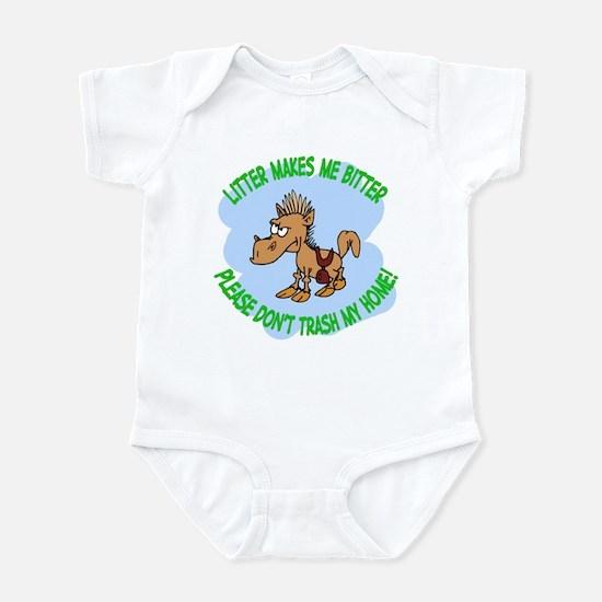 Bitter Litter Horse Infant Bodysuit