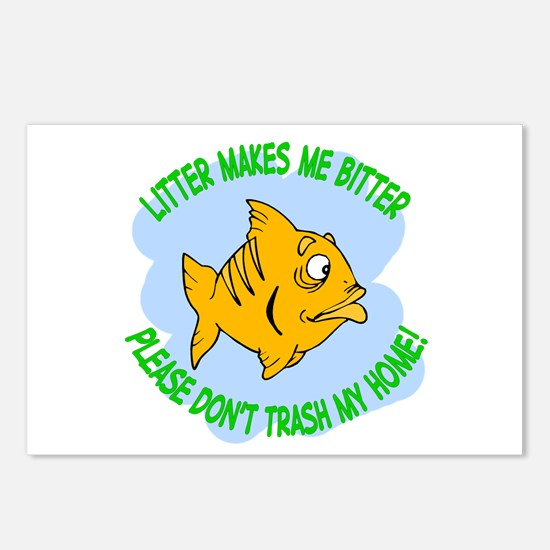 Bitter Litter Fish Postcards (Package of 8)