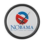 NOBAMA anti Obama Large Wall Clock