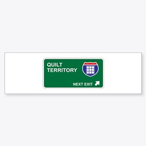 Quilt Territory Bumper Sticker
