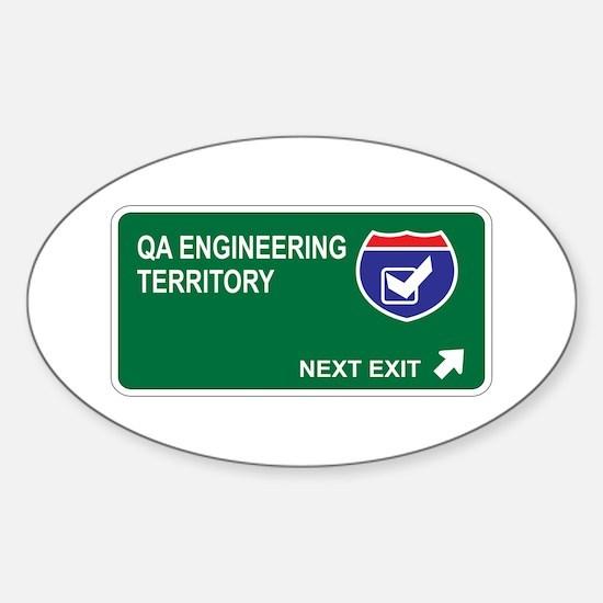 QA Engineering Territory Oval Decal