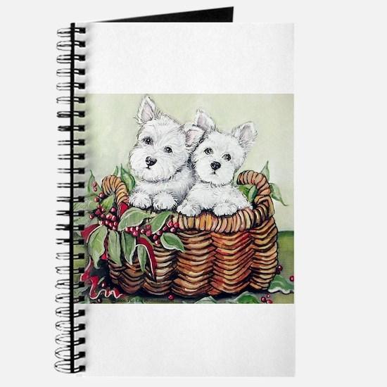 Westie Puppy Basket Journal