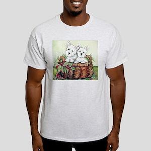 Westie Puppy Basket Light T-Shirt