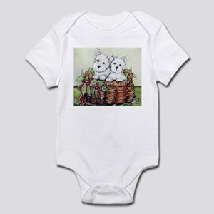 Westie Puppy Basket Infant Bodysuit