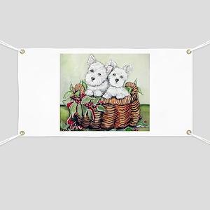 Westie Puppy Basket Banner