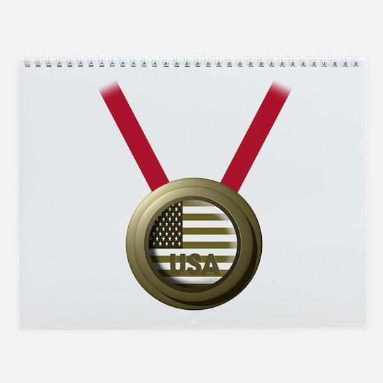 USA GOLD Wall Calendar