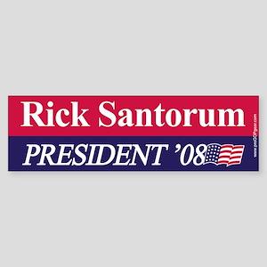 """""""Rick Santorum for President"""" Bumper Sticker"""