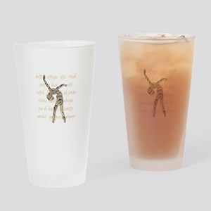 Ballet Terminology Drinking Glass