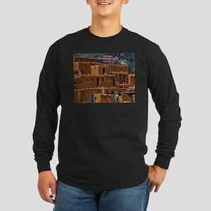 Taos Pueblo Long Sleeve Dark T-Shirt