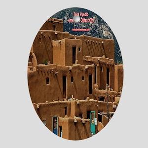 Taos Pueblo Oval Ornament