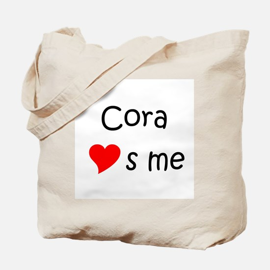 Cute Cora Tote Bag