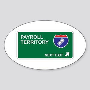 Payroll Territory Oval Sticker