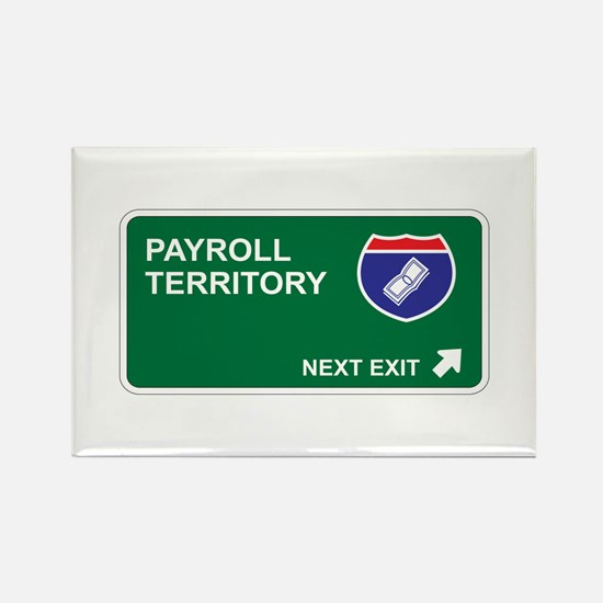 Payroll Territory Rectangle Magnet