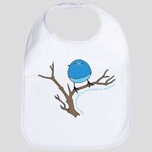 Bluebird Of Happiness Blessing Baby Bib