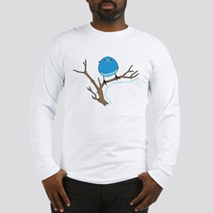Bluebird Of Happiness Blessing Long Sleeve T-Shirt