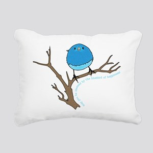Bluebird Of Happiness Bl Rectangular Canvas Pillow