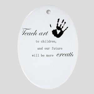 teachart1 Oval Ornament