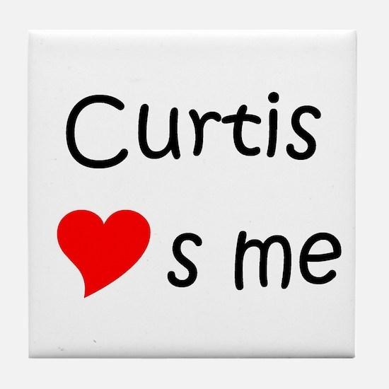 Unique Curtis Tile Coaster