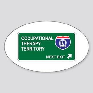 Occupational, Therapy Territory Oval Sticker