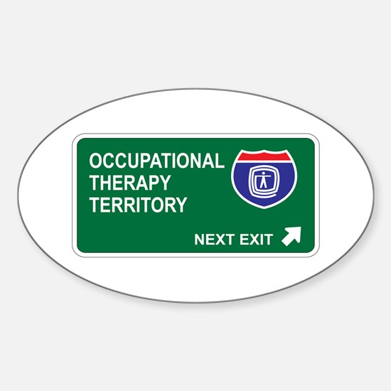 Occupational, Therapy Territory Oval Decal