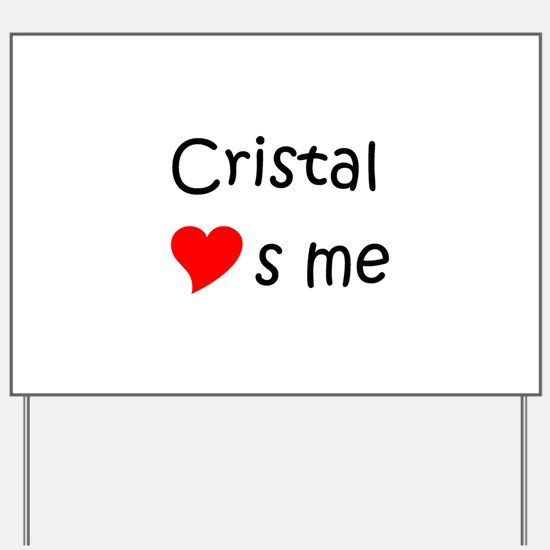 Unique Cristal Yard Sign