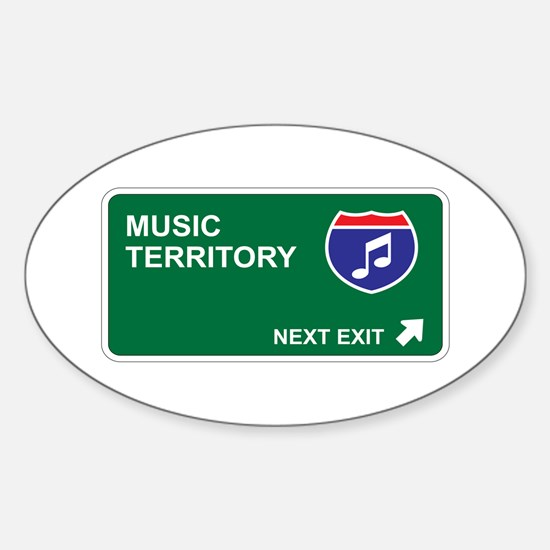 Music Territory Oval Decal