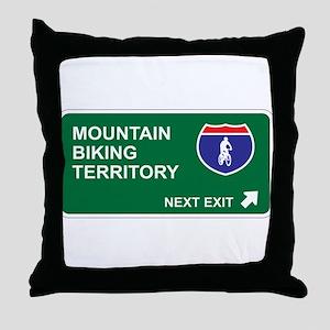 Mountain, Biking Territory Throw Pillow