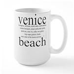 367.venice beach Large Mug