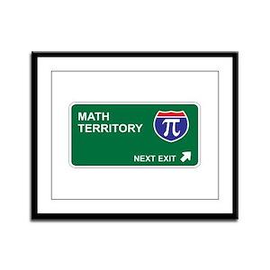 Math Territory Framed Panel Print