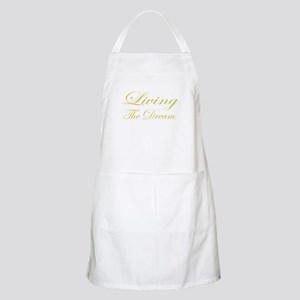 Living the Dream Gold Apron