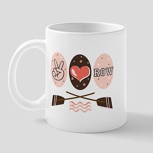 Peace Love Row Crew Mug