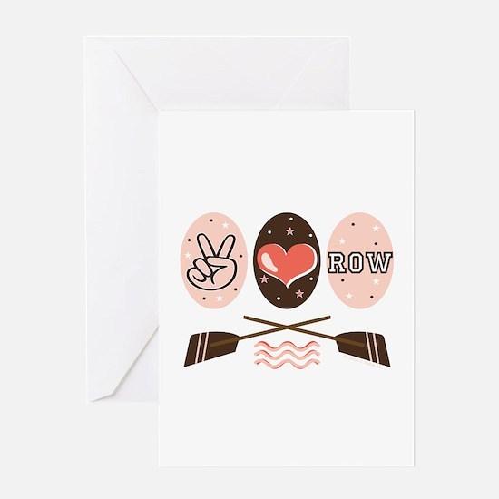 Peace Love Row Crew Greeting Card