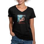 Pearl Harbor Day Women's V-Neck Dark T-Shirt