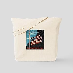 Pearl Harbor Day Tote Bag