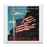 Pearl Harbor Day Tile Coaster