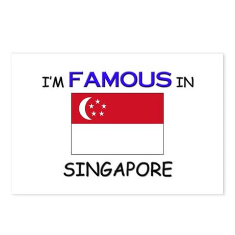 I'd Famous In SINGAPORE Postcards (Package of 8)