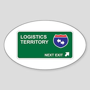 Logistics Territory Oval Sticker