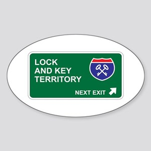 Lock, and Key Territory Oval Sticker