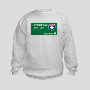 Lifeguarding Territory Kids Sweatshirt