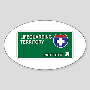Lifeguarding Territory Oval Sticker